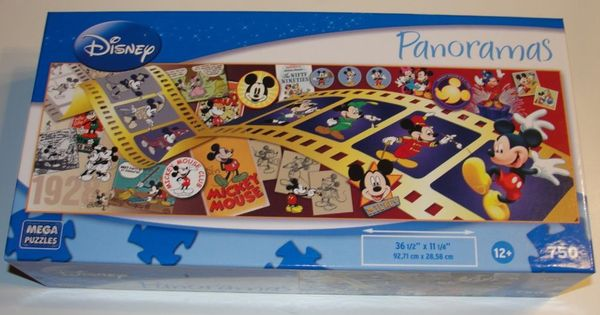 Disney S Mickey Mouse Through The Years Panoramic Jigsaw