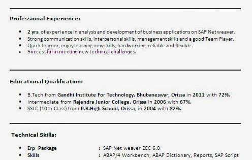 curriculum vitae francais modele Sample Template Example of - manual testing sample resumes