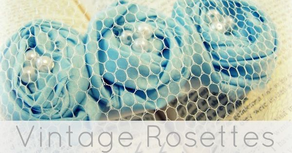 Vintage Rosette hair piece