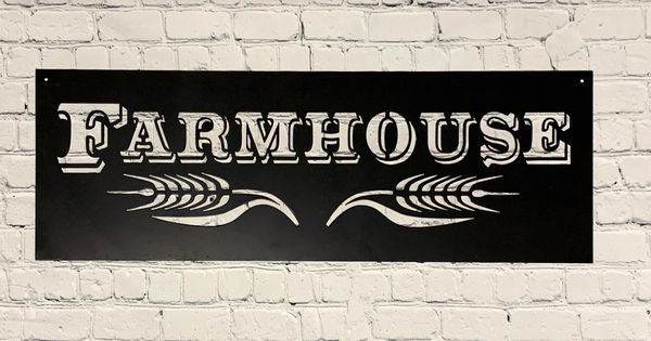 Metal Art 14 Gauge Bare Metal Farmhouse Rustic Wall Art Farmhouse Style Country Living Metal Wall Signs In 2020 Rustic Wall Art Metal Art Metal Wall Sign