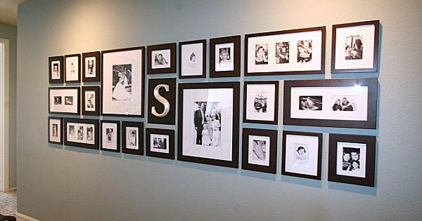 Pretty picture wall decor and photo display idea.