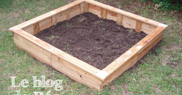 Carr potager fabriquer en bois de palette pallets raised bed garden les diy et pas pas du - Fabriquer carre potager palette ...