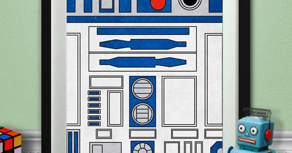 R2D2 Printable $5 by Pixelmatic boys nursery starwars robot birthday party