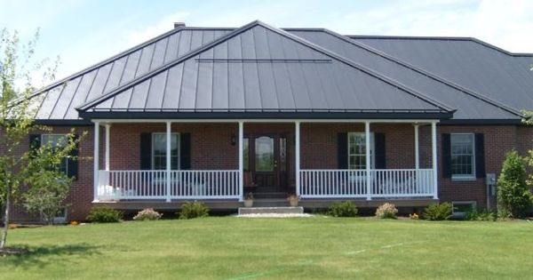 Dark Grey Painted Roof With Red Brick Roof Colour