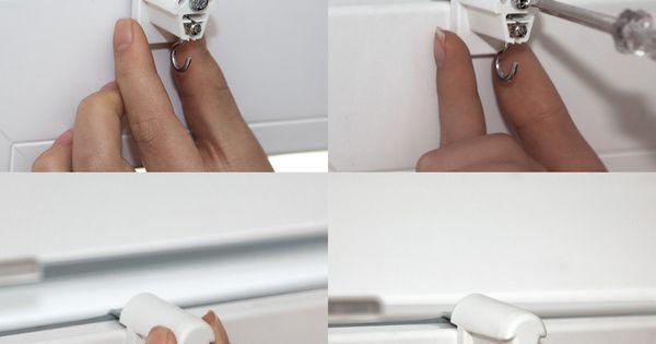 victoria m lot de 2 supports de fixation sans per age pour store enrouleur en bambou blanc. Black Bedroom Furniture Sets. Home Design Ideas