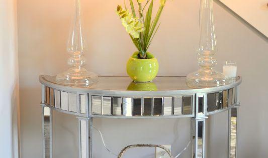 Elegant Foyer Table Lamps : Foyer decor using pier elegant glass candlestick lamps