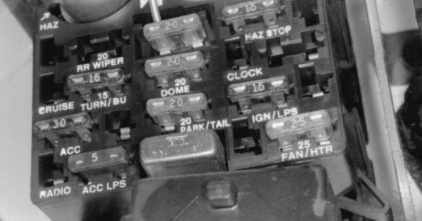 under dash fuses 1993 jeep Fig. Fig. 1 Underdash fuse