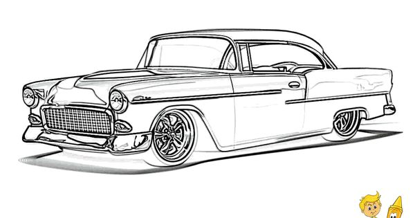 pin old car coloring - photo #13