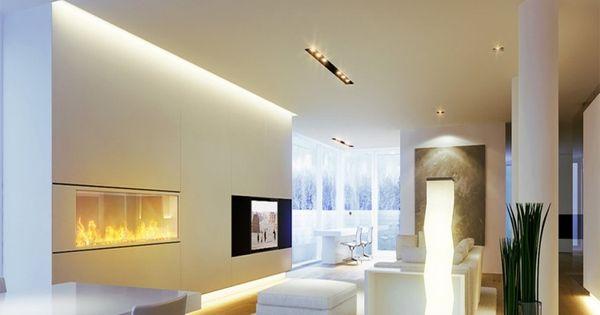 led-beleuchtung-wohnzimmer-ideen-verschiedene-lichtquellen-raum, Wohnzimmer