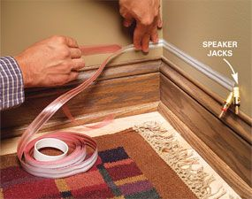 How To Hide Wiring Speaker And Low Voltage Wire Hidden Wiring Home Theater Wiring Home Theater Setup