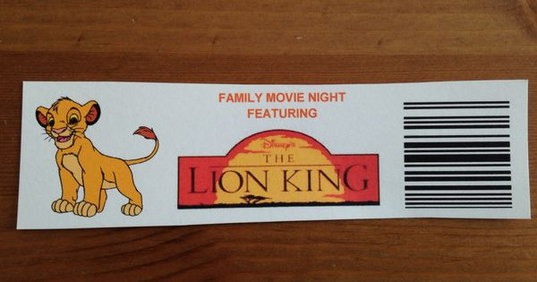 our lion king tickets - lion king movie night - disney movie night