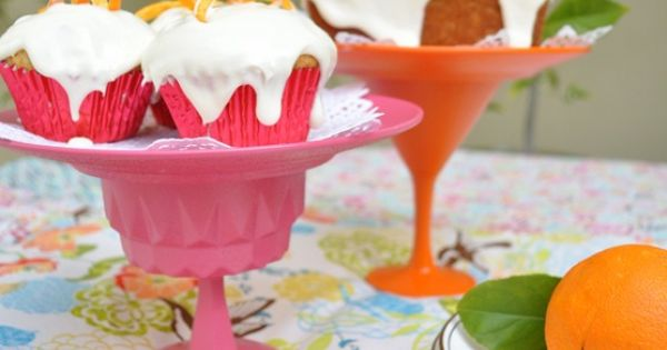 DIY Dessert Stands made from an old plate & glass! What a
