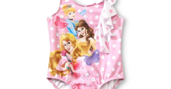 Disney Princess /& The Frog Swimsuit Swimming Costume Age 2