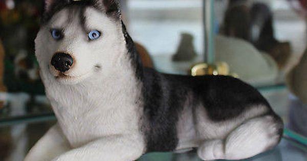 Sandicast Original Size Siberian Husky Dog Figurine