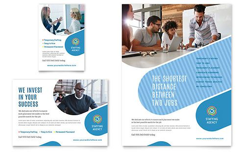 Employment Agency Print Ad Template Advertisement Template