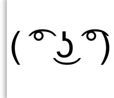 Lenny Face Meme Canvas Print Lenny Face Meme Face Anime Poses Reference