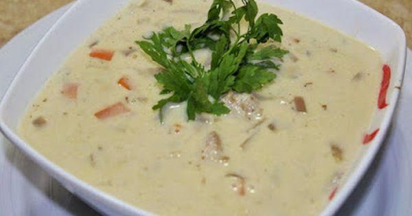 شوربة الدجاج بالكريمة و البصل و الفلفل Food Food And Drink Cream Soup