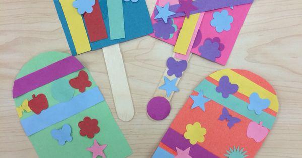 Summer Popsicle Crafts Kindergarten