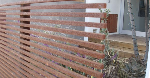 corten slats... Privacy fence for my back deck?
