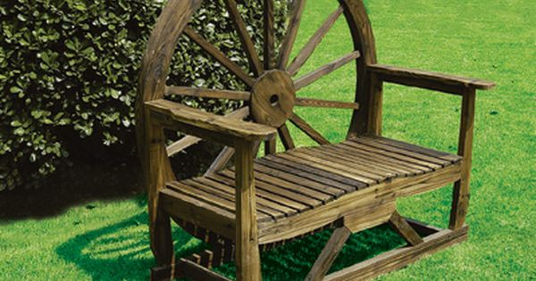 Wagon Wheel Bench - make two double benchs for firepit or one