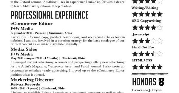 graphic design resume example