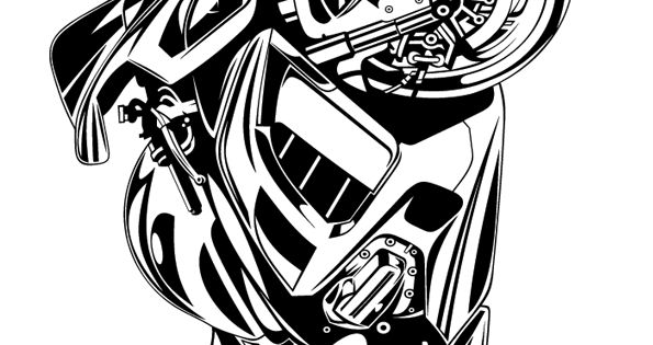 Coloriage d une grande moto tr s robuste coloriages de motos et kartings pinterest moto - Dessin voiture stylisee ...