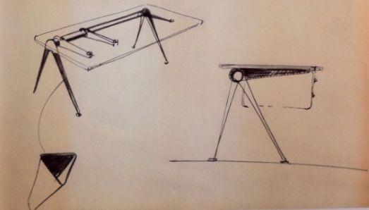 The Jean Prouve Compass Desk Prouve Jean Prouve Jean Prouve Table