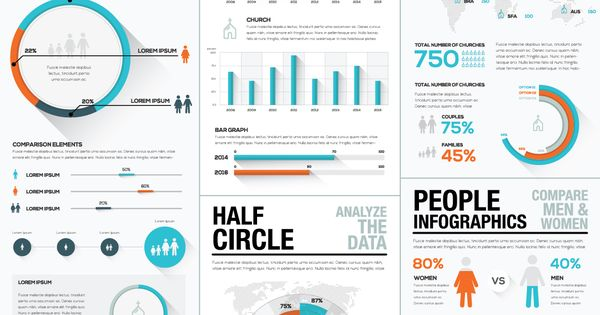 45 off infographic elements bundle 2 by mpf design on