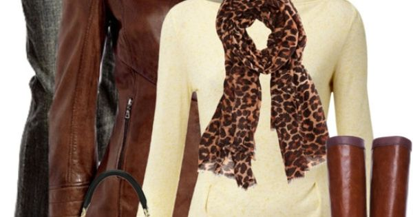 Neutrals and leopard print, my favorite fall look.