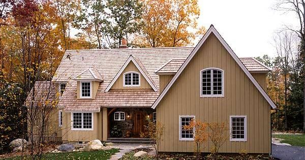 Timber Frame Home In Massachusetts With Board And Batten