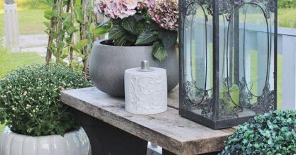 fin liten b nk till terassen tr dg rd pinterest gardens garden ideas and patios. Black Bedroom Furniture Sets. Home Design Ideas