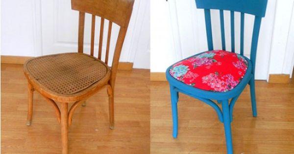 relooker une chaise en bois avec ce diy proposé par l'agenda de la