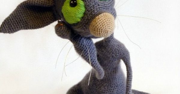 Amigurumi Wire : 006 Crochet Pattern - Hairless Cat Fillimon with wire ...