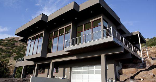 Valley view a modern style rambler house plan walker for Modern rambler house plans