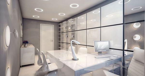 Extra modern white surgery clinic interior design white for Hip office design