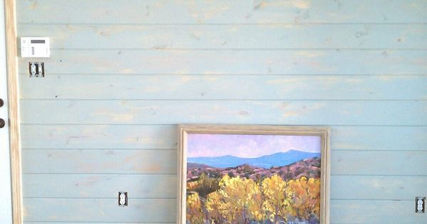 White Washed Ceiling Blue Washed Pine Boards Moravian