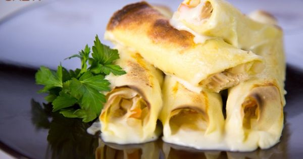 Mario Batali's Chicken Cannelloni recipe