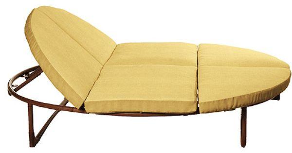 Orbit Double Lounger Cushion Set Solid Sesame 169