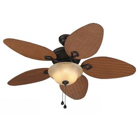 harbor breeze bridgeford 44 in indoor outdoor ceiling fan with light kit 5 blade lowes com fans white