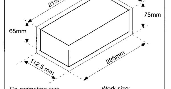 normal brick size for construction