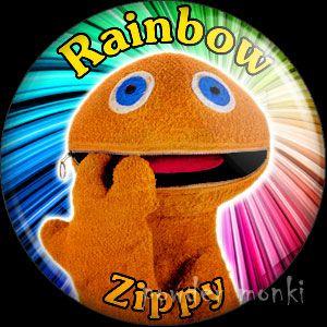 RAINBOW ZIPPY PIN BADGE