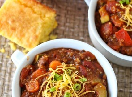 Vegetarian Quinoa Chili Recipe on Our favorite chili recipe! organic health better