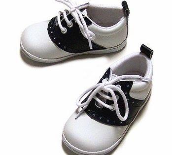 Navy Blue \u0026 White Leather Saddle Shoes