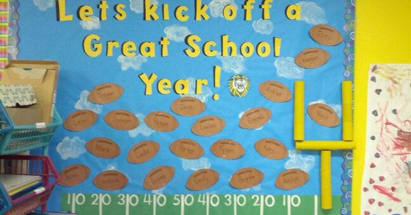 School bulletin board. Football | Bulletin Boards ...