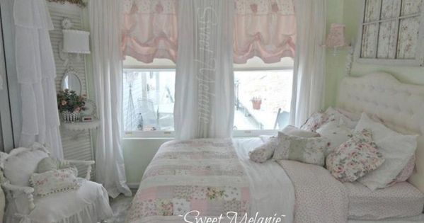decora o shabby chic na casa shabby bedrooms and pretty bedroom. Black Bedroom Furniture Sets. Home Design Ideas