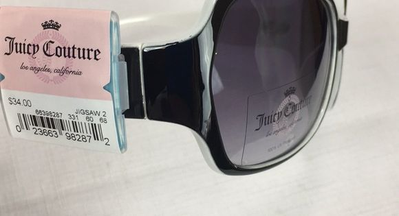 ab877f8e7a18 NWT Juicy Couture Jigsaw Plastic Rim Sunglasses Brand new pair of Juicy  Couture plastic rim sunglasses Style: Jigsaw Black & white pl…