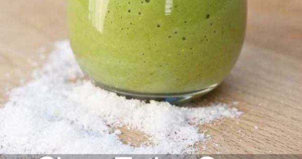 Clean Eating Green Coconut Milk Smoothie 1 cup light coconut milk (in