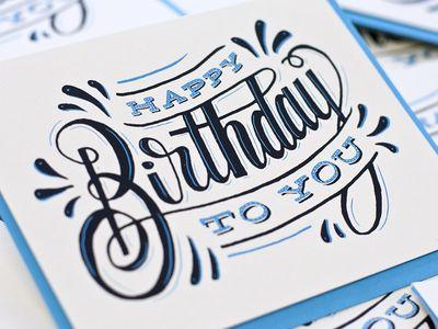 Happy Birthday To You Birthday Card Drawing Birthday Typography Typography Sketch