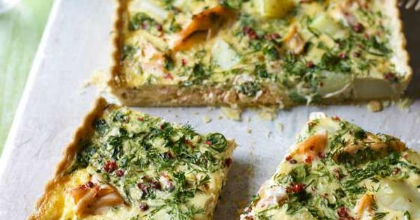 Quiche, Salmon and Seafood quiche on Pinterest