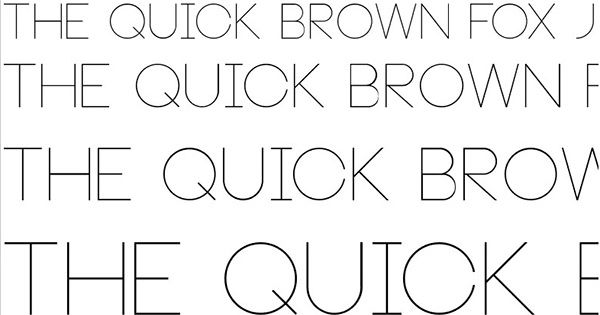 Neou Thin Font TrueType Free Download On ProFont